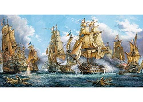 Yzqxiongtu Naval Battle Jigsaw Puzzles 1000 Stück, Holzpuzzlespielzeug, Erwachsene Kinder Die Familie Puzzlespiele zusammenbauen