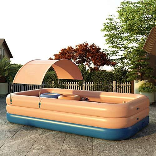 BIYLL Schwimmbad Pool Planschbecken Schwimmbad Family Pool Planschbecken Babypool Baby Pool Familienpool Schwimmingpool Kinderplanschbecken Badespaß 82.68x59.05x26.77in