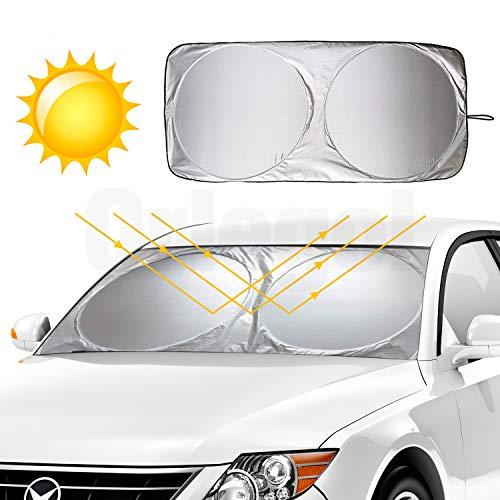 Auto Parasole per Parabrezza, Orlegol Protezione Parabrezza Pieghevole Portabile Parasole Protezione Contro Raggi UV per Cruscotto Abitacolo, Keep Interni Auto Cool - 160 x 86 cm