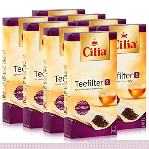 CILIA® Teefilter 80 Stk. Grösse S ohne Halter verwendbar ( 8er Pack )