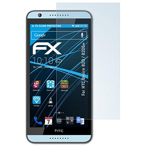 atFolix Schutzfolie kompatibel mit HTC Desire 820 / 820G+ Folie, ultraklare FX Bildschirmschutzfolie (3X)