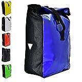 Büchel Fahrradtasche aus Tarpaulin, Besfestigung am Gepäckträger, verschiedene Farben
