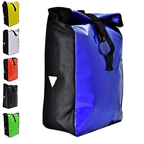 Büchel Fahrradtasche aus Tarpaulin, Besfestigung am Gepäckträger, blau, 81516013