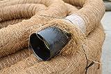 Doubleyou Geovlies & Baustoffe Drainagerohr DN 100 gelocht mit Kokosfilter, Kokos ummantelt, Drainage (50m)