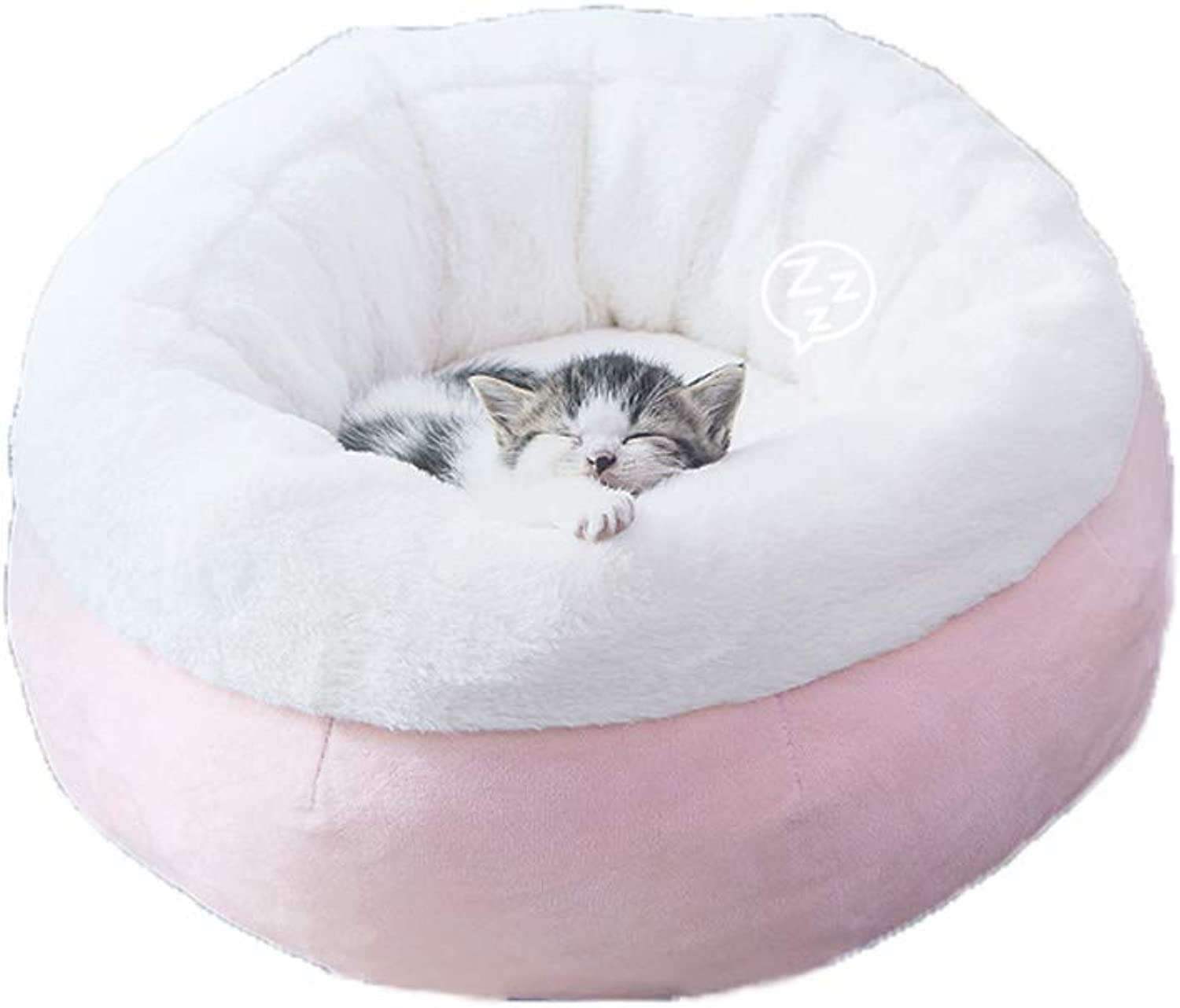 C_1X Cat Litter, Pet Litter, Kennel, Cat Bed, Villa Cat House, Net Red Kennel, Pet Supplies, Pet Bed, Cat Room, (pink 42cm 52cm) (color   Pink, Size   42cm)
