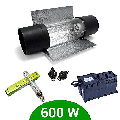 Kit de iluminación 600W SHP Agrolite + Balastro Agrolite clase 2 + Co