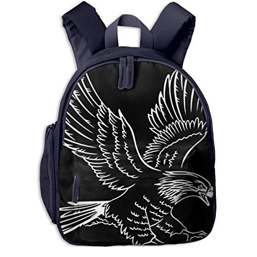 Mochilas Infantiles, Bolsa Mochila Niño Mochila Bebe Guarderia Mochila Escolar con Flying Eagle Calvo Esto para Niños De 3 A 6 Años De Edad