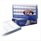 Tico TAB1-0893 Etichette a Modulo Continuo, 89 x 36.2, Bianco, 500 Pezzi