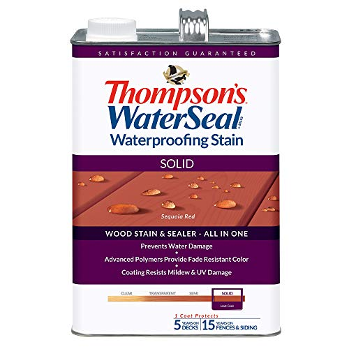 THOMPSONS WATERSEAL TH.043831-16 Solid Waterproofing Stain, Sequoia Red