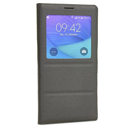 Schutzülle mit Sicht-Fenster für SAMSUNG Galaxy Note 4 , Cover, Flip Case
