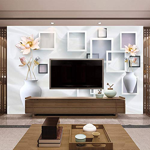 TV muurachtergrond TV achtergrond muur behang 3D behang eenvoudig modern en Chinees kostuum modern 3D fotobehang strand 200cm×140cm