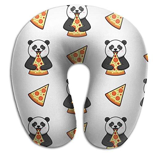 AOOEDM elasonn Cartoon Pizza Eat Pizza Comida Italiana Almohada en Forma de U estándar Cómoda Almohada de Apoyo para la Cabeza y el Cuello con cojín de Espuma viscoelástica Funda Lavable de Moda tran