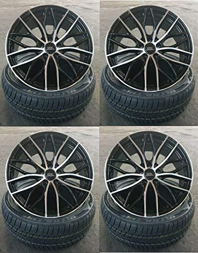 4 x 19 Zoll MM-CONCEPTS MM01 Alu Felgen 8,5x19 5x112 ET45 schwarz poliert für Ateca 5F 4drive Cupra Ateca 5F Leon 5F 1P Leon Cupra 5F Leon X-Perience 5F NEU