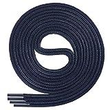 Di Ficchiano-SW-03-navy-80 gewachste runde Schnürsenkel, Schuband, Laces, Durchmesser 2-4 mm für Businessschuhe, Anzugschuhe und Lederschuhe