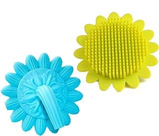 Baby Shampoo Brush,2 Pack Shampoo Brush,Scrubber Handheld Silicone Baby Brush,for Senstive Scalp and Kids,Hair Scalp Massager(Blue,Yellow) Food-Grade Silicone Teeth