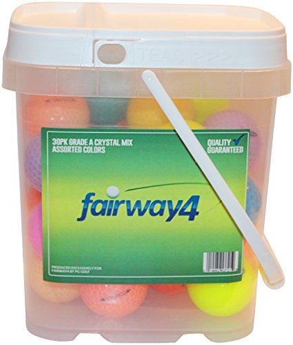 Fairway4 Recycled Crystal and Colorful Mix Golf Balls (30 Pack), Assorted Colors