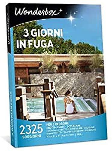 Wonderbox - Cofanetto Regalo - 3 Giorni in Fuga - Valido 3 Anni e 3 Mesi