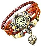 Kim Johanson Damen Armbanduhr aus Leder in Braun inkl. Schmuckbeutel