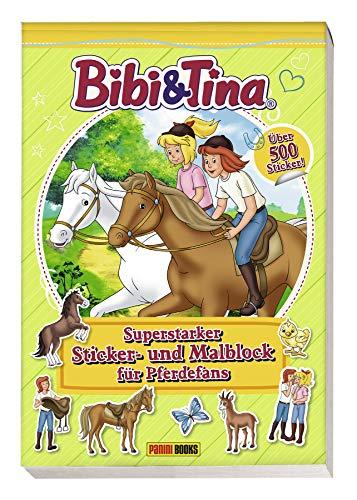 Bibi & Tina: Superstarker Sticker- und Malblock für Pferdefans: über 500 Sticker