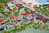ZYDZYD Miniaturstadt Miniaturhaus Modellhaus Modellstadt,40x50 cm DIY malen nach Zahlen Erwachsene Kinder Leinwanddruck Wandkunst - Ohne Rahmen