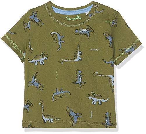 Sanetta Sanetta Baby-Jungen T-Shirt, Grün (Dark Leaf 4951), 56 (Herstellergröße: 056)
