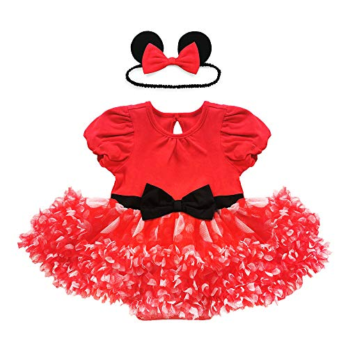 Disney Red Minnie Mouse Costume Bodysuit for Baby, Size 6-9 Months