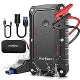 FCONEGY Booster Batterie 2200A 25000mAh Portable Jump Starter Démarrage de Voiture (12V Moteur jusqu'à 8L Essence et 7L Diesel) avec Lamp LED Pinces Intelligentes UL Certifié
