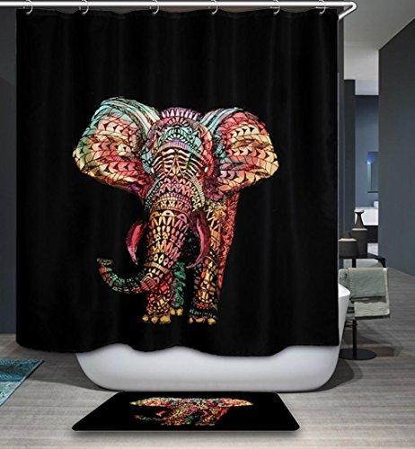 LAundNA Contemperary Design Hochwertige wasserdichte Polyester Stoff Bad Duschvorhang Set mit 12 Kunststoff Haken, 180 * 180cm , 2