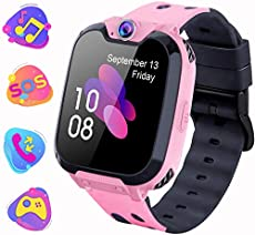 Kids Smartwatch with Games MP3 Player - 1.54 Inch Touch Screen Watch Phone 2 Way Call Music Player Game Funny Camera Alarm Clock Children School Birthday Gift for 3-10 Years Old Boys Girls