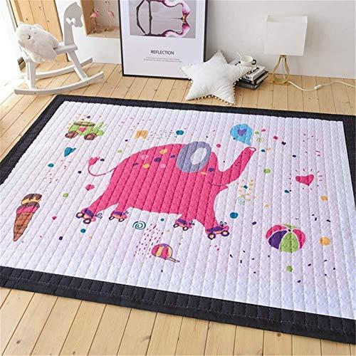 Babyproduct de juegos for niños esterilla a mano Juego de arrastre de alfombras for niño del bebé y los niños juegan Manta yoga Colchoneta de ejercicio Mat-Cushy- grueso y suave hipoalergénico no tóxi