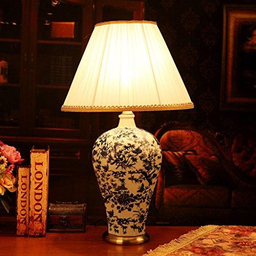 SKC Lighting-lampe de table Lampe de table de salon de chevet chambre à coucher en céramique de style européen