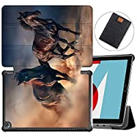 MAITTAO Stand Cover For Huawei MediaPad M5 10.8 Case, Ultra Slim Leather Folio Smart-Shell with Auto Wake/Sleep for Huawei Mediapad M5 Pro 10.8 Inch 2018 Released Tablet, Akhal-Teke Horse 13