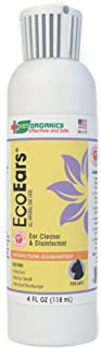 Vet Organics for Cats: EcoEars Cat Ear Cleaner Infection Formula. for Itch, Head Shaking, Discharge & Smell. Natural Multi Symptom Ear Cleaner Cleans Away Most Cat Ear Problems. 100%. 4oz.