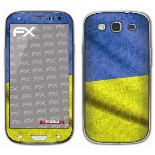 atFoliX voetbal 2012 designfolie voor Samsung Galaxy S3 GT-I9300, Vlag van Oekraïne, Afbeelding