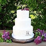 Tortenständer für Hochzeitstorte, rund, aus Holz, für Hochzeitstorte, Tortenständer, Tortenständer, Tortentisch, Desserttisch, Cupcake