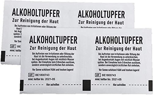 Toallitas estériles con alcohol (100 unidades, 30 x 65 mm)