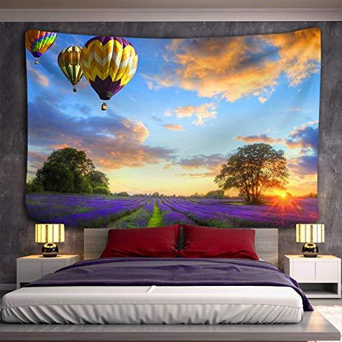 N/A Tapices 3D Impresión Globo de Aire Puesta de Sol Paisaje Colgante de Pared tapices de Mandala Toalla de Playa Mantel Manta de Tela decoración Bohemia decoración del hogar