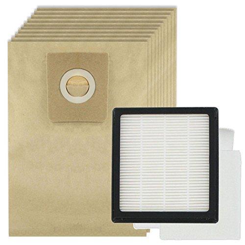 Spares2go Kit de filtres Hepa + 10 sacs pour aspirateurs Nilfisk GM200 GM200E GM300 GM400