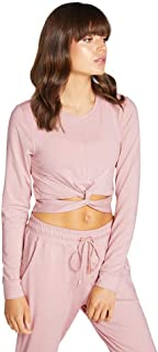 Rockwear Activewear Women's Revive Cross Over Crop Top Rose Quartz 14 from Size 4-18 for
