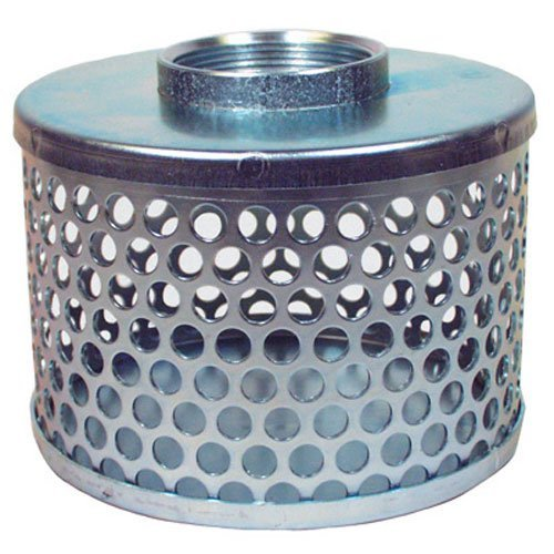 Apache 70000504 Round Hole Suction Strainers, Plated Steel, 2
