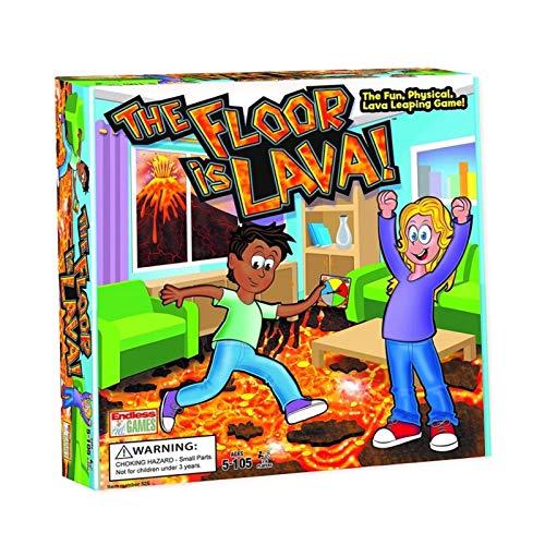 Kids Board Games Floor ist Lava, Kinderspin-Karten, Kartenspiele, Familienbrettspiele, sodass 2-6 Personen zum Spielen, interaktives Kartenspiel für Erwachsene und Kinder (ab 5+) Spaßparty