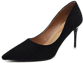 IDIFU Women's Formal Pointed Toe Slip On High Stiletto...
