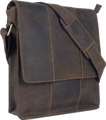 UNICORN Vera Pelle ipad, Ebook o Tablets Borsa Marrone Messenger Bag #5E