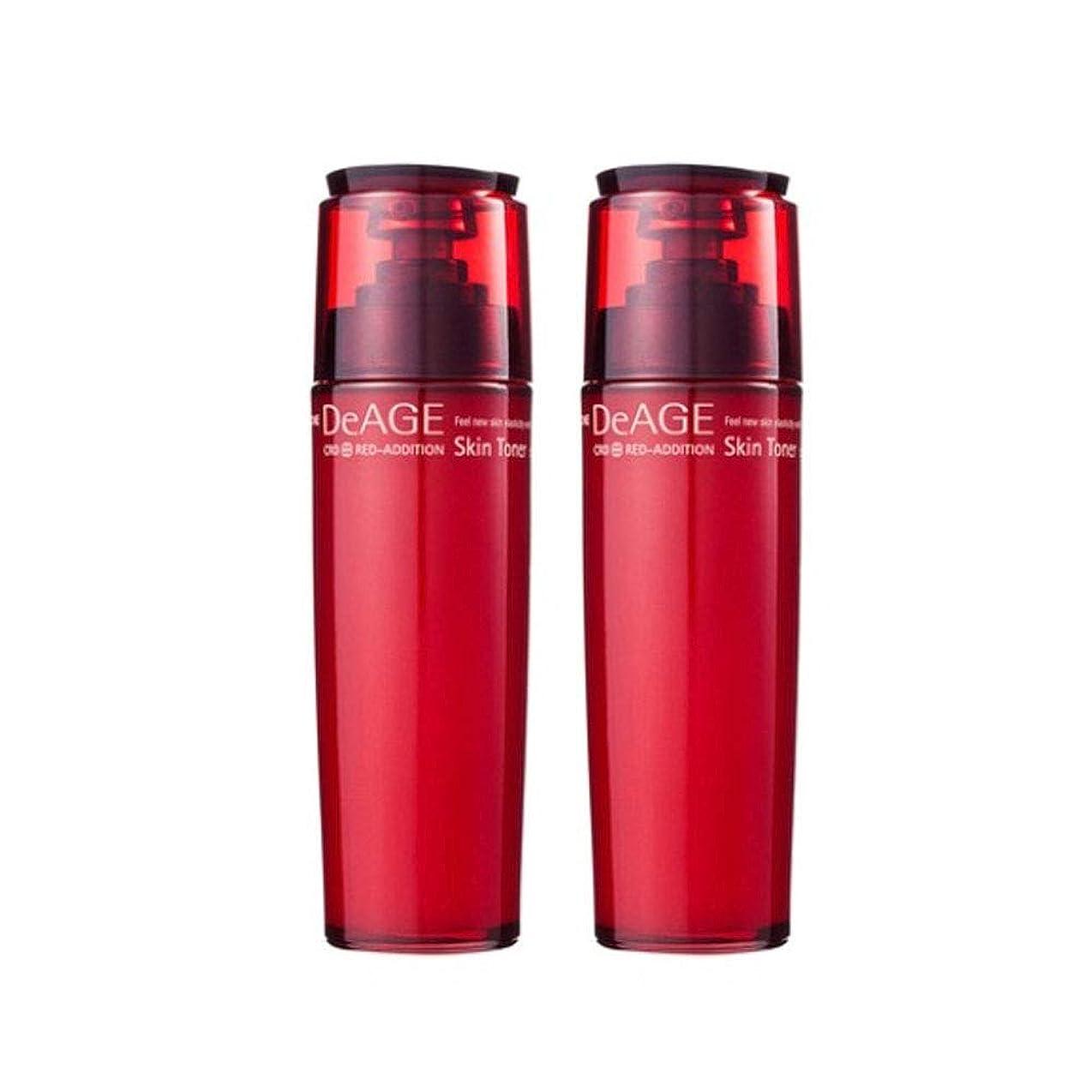 苦しみ演劇発見チャムジョンディエイジレッドエディションスキントナー130ml x 2、Charmzone DeAGE Red-Addition Skin Toner 130ml x 2 [並行輸入品]