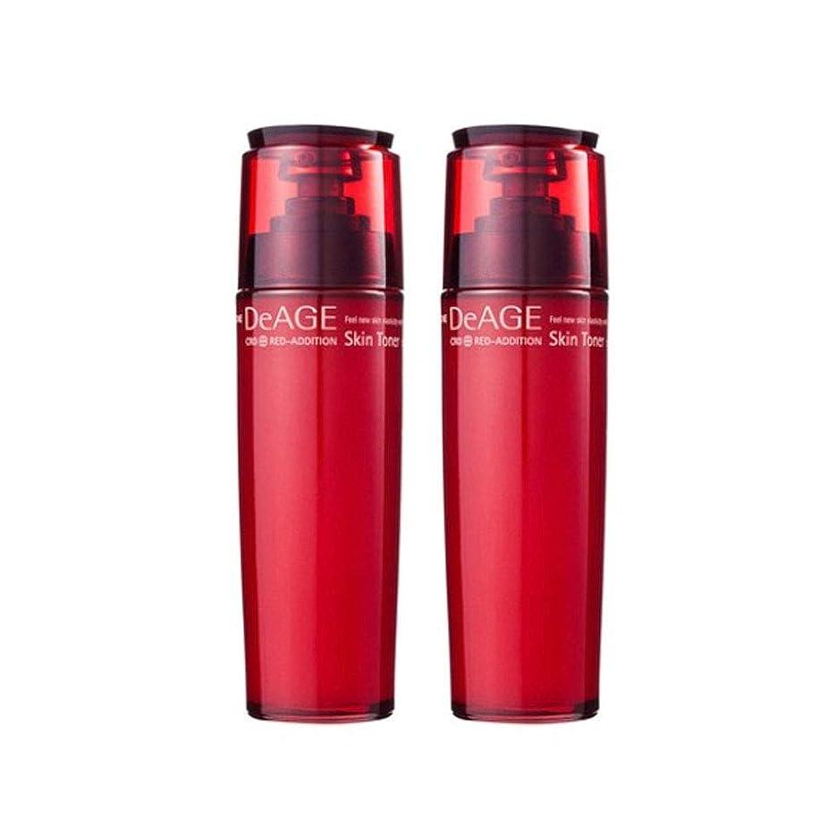メール泥棒オーバーヘッドチャムジョンディエイジレッドエディションスキントナー130ml x 2、Charmzone DeAGE Red-Addition Skin Toner 130ml x 2 [並行輸入品]