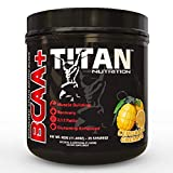 Titan BCAA+: Branched Chain Amino Acids Enhanced with glutamine- Aids in Muscle Recovery, Increase Muscle Protein Synthesis, and Improve Lean Body Mass-Perfect 2:1:1 BCAA Ratio (Lemonade Grenade)