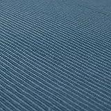Linum Uni Dekoratives Tischläufer für Esstisch 45cm x 150cm, 100% Gerippte Baumwolle, Maschinenwaschbar, Tiefseeblau - 3