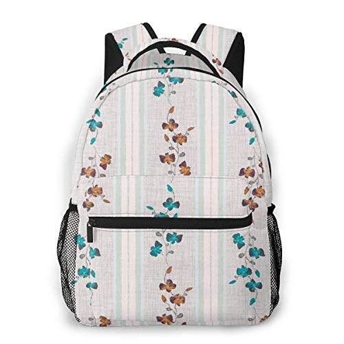 shenguang Small Wild Blue and Orange Branchs Lightweight Travel Backpack Casual School Bag for Women and Teens Gift