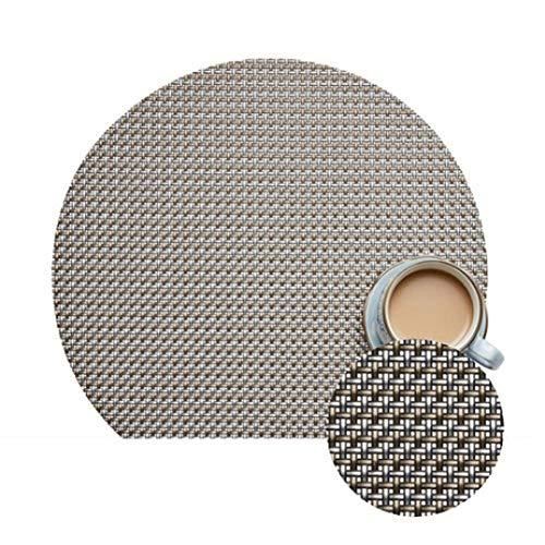 NIKIMI rutschfeste Tischset Anti-Rutsch-Tischset Isolierte PVC-Servietten für Esstisch Disc Bowl Pads Drink Coaster 2/4 / 8PCS