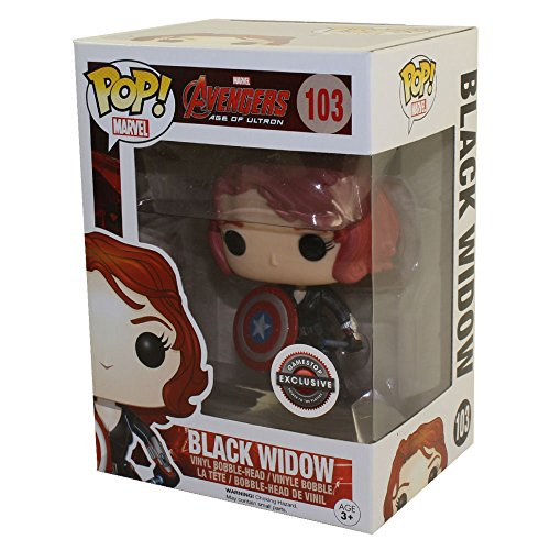 Funko Black Widow with Captain America's Shield (Marvel) Bobble Head Pop! Vinyl Figure